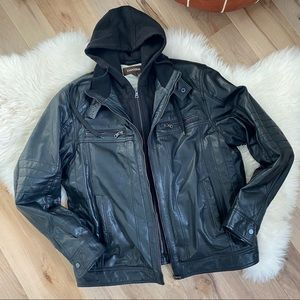 DANIER Genuine Leather Layered Jacket XL